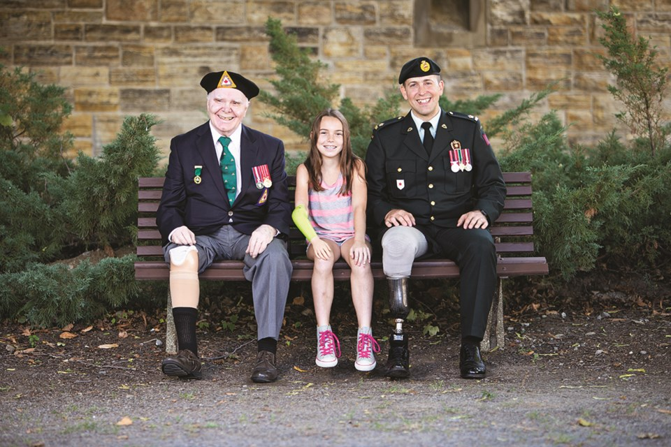 The War Amps programs have grown over the years from assisting traditional war amputees – whom we still serve – to all amputees, including modern-day veterans and children (Photo courtesy of The War Amps)