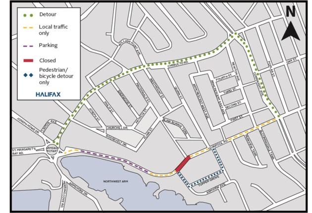 041519-quinpool closure-free parking-quinpool road-cn bridge-Parking Map