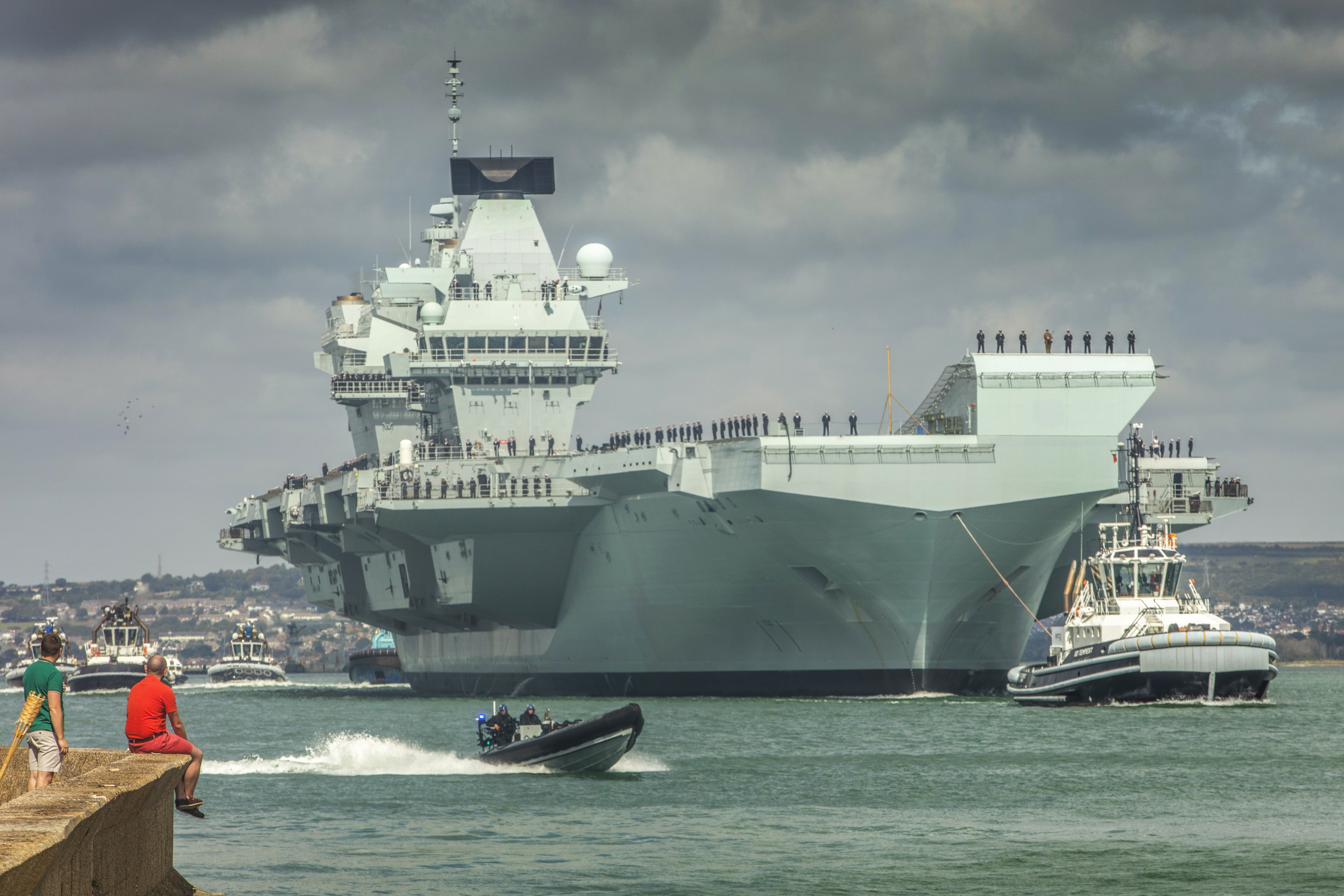 UK's new aircraft carrier makes historic first visit to Halifax