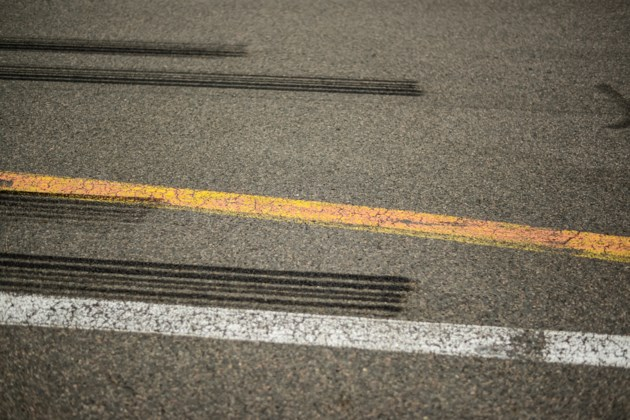 Driver Of Multi Coloured Sedan Punches Up Plenty Of