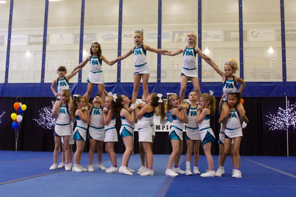 Kamloops will host the first officialB.C. Provincial Cheerleading Championship next Saturday (April 13). (via Freeze Athletics)