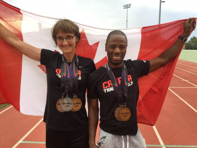 Sunette Lessing and Dwight Liburd