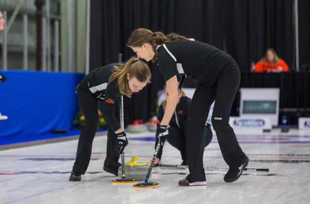 Samantha Fisher, Dezaray Hawes, TRU Curling