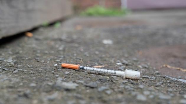 used needle on street