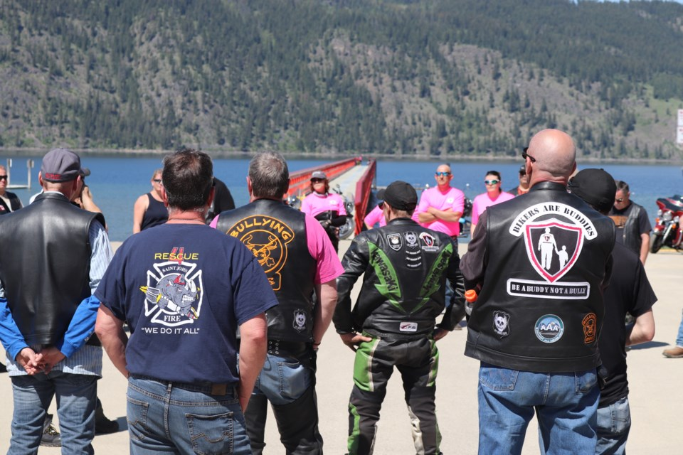 Bikers gathered together at Memorial Park in Chase as they received a rundown on the events that would be taking place. (via Cavelle Layes)