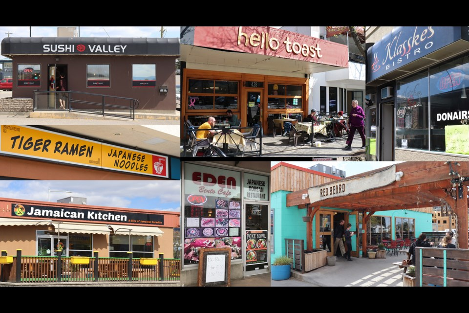 Some of the top local restaurants in Kamloops. (via Brendan Kergin)