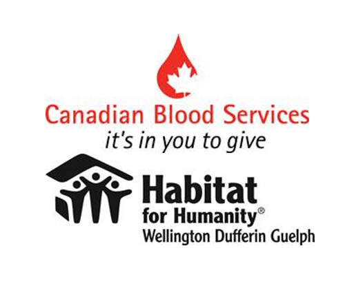 Canadian Blood Services and Habitat for Humanity