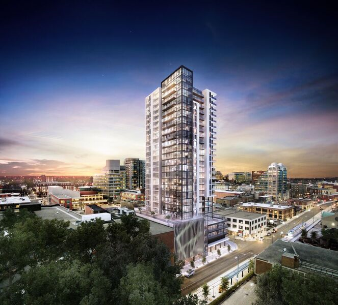 groundbreaking this week for new condo project in downtown kitchener