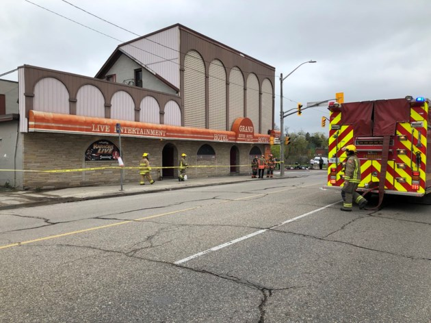 Fire at Grand River Hotel May 10 2019