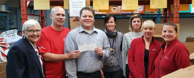 Gore Mutual Cheque to Cambridge Self-Help Food Bank