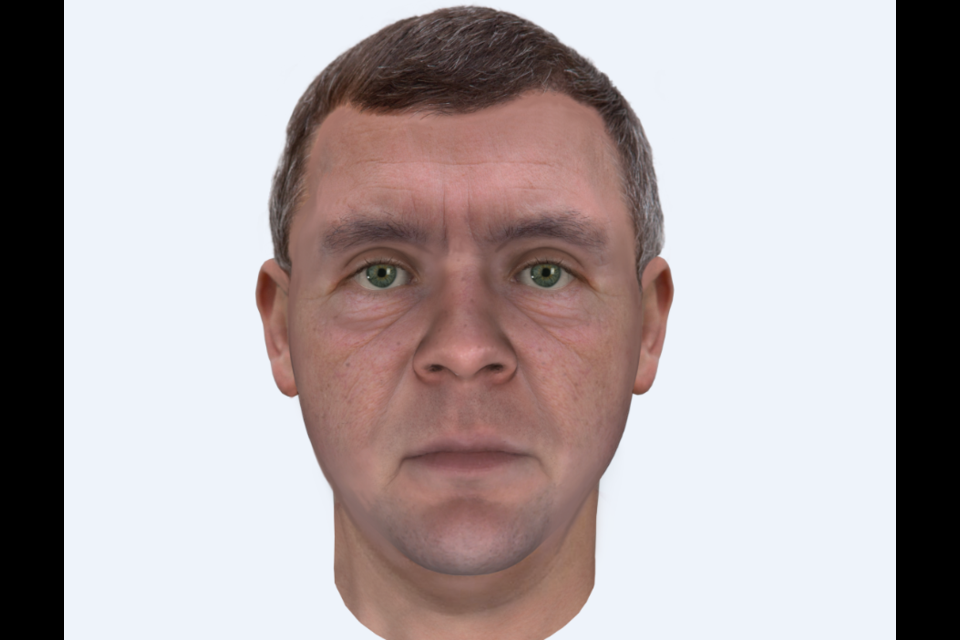 What the suspect may look like today. Image supplied by OPP