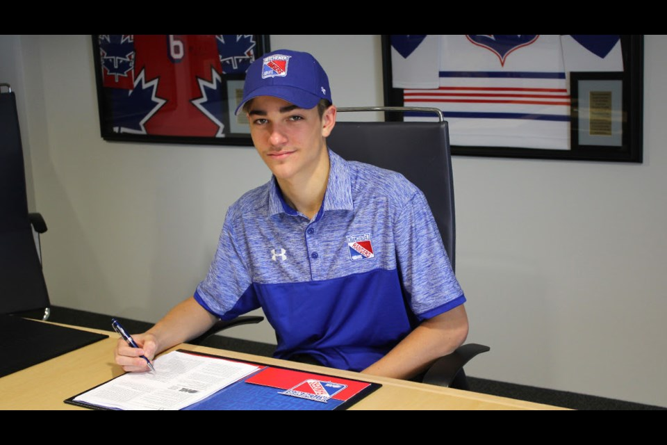 Joseph Serpa. Photo from the Kitchener Rangers