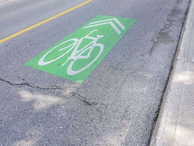 Bike lanes Kitchener