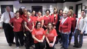 VIDEO: Why people across town are sporting red today