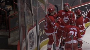 VIDEO: Late goals lift Hounds over Saginaw