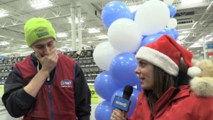 VIDEO: On the second day of Christmas, Madison's big surprise at work