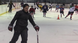 VIDEO: Canadian hockey star Brigette Lacquette on the ice with local girls