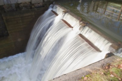 <strong>A long exposure of water falling into Lock 2 near the Fairview Centre administration building at Shubie Park. The lock was one of nine in the Shubie Canal system built beginning in the 1820s.  (JOHN McPHEE / Local Xpress) </strong>