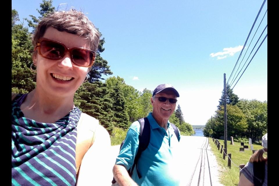 Nicole Uzans, co-ordinator of the Camino Nova Scotia pilgrimages, takes part in the first of four summer treks.