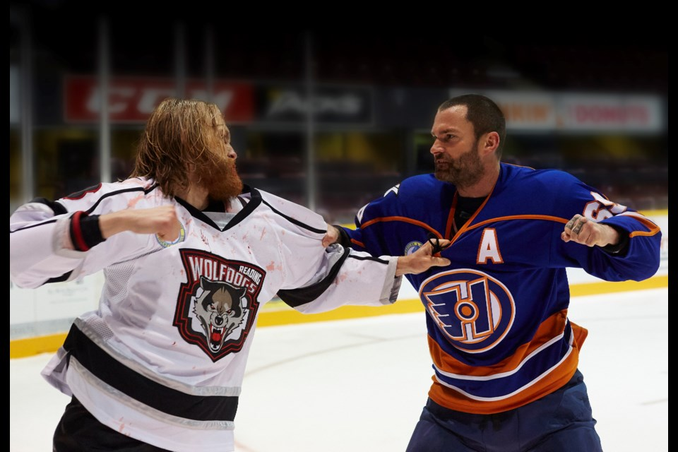 The gloves are off in Goon: Last of the Enforcers, as Doug Glatt (Seann William Scott) faces off against upstart Anders Cain (Wyatt Russell). (eOne Films Canada)