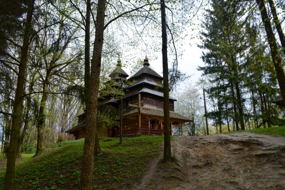 Old Carpathian wooden church, Museum of Folk Architecture, Lviv, Ukraine. (SHAUGHNESSY DOW)