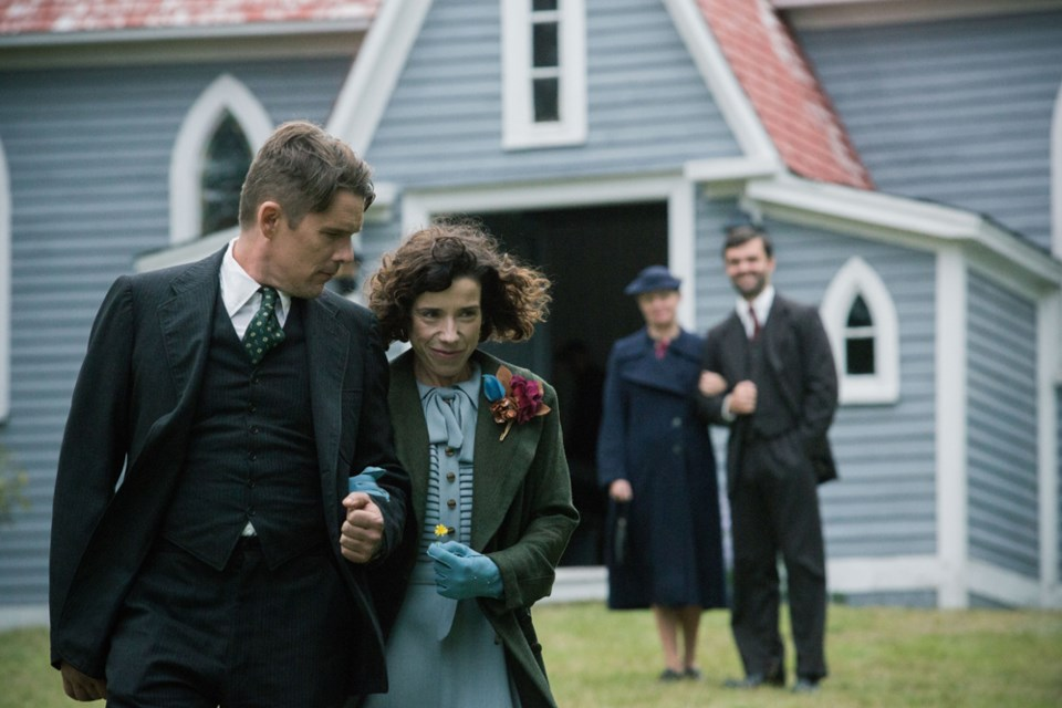 Ethan Hawke stars as Everett Lewis and Sally Hawkins as famed folk artist Maud Lewis in Maudie, the opening night gala at the Atlantic Film Festival on Sept. 15 at the Rebecca Cohn Auditorium.