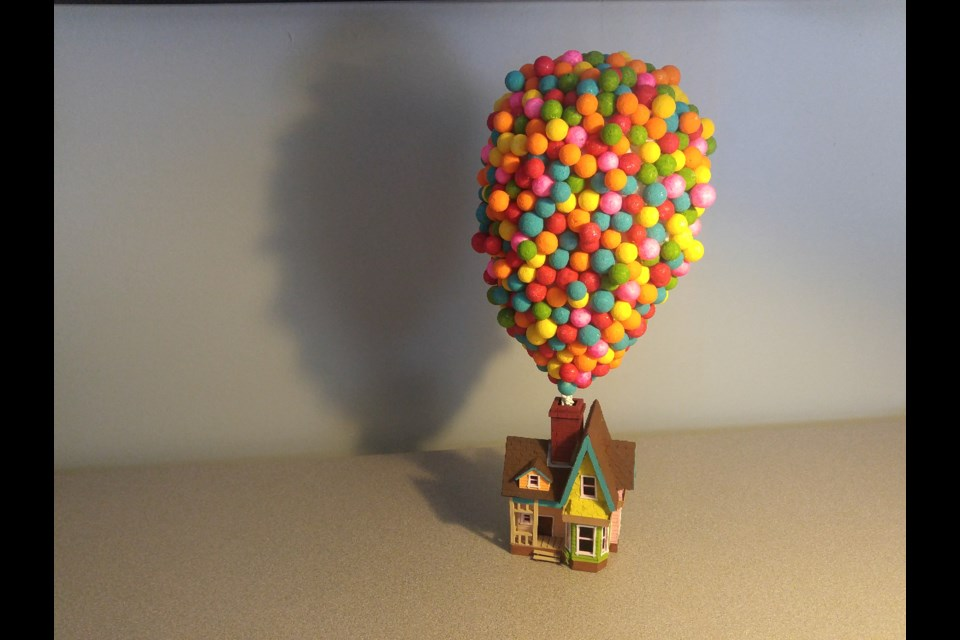 Up, by Damien Webb, is the balloon-festooned house from the movie Up. It has since sold.