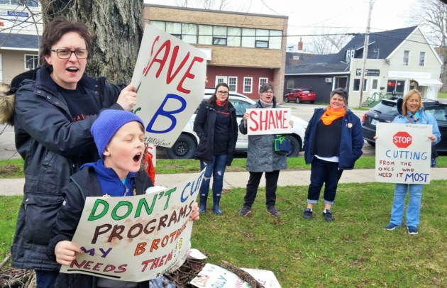Jen Halliday CB school protest