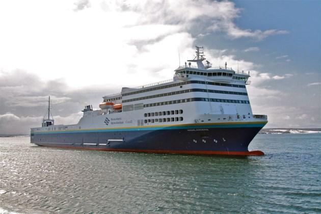 Marine Atlantic's MV Highlanders ferry stuck in pack ice off Cape Breton