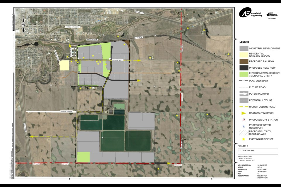 An image of where the proposed industrial park would be located. Photo courtesy City of Moose Jaw