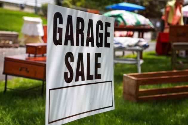 garage sale sign shutterstock