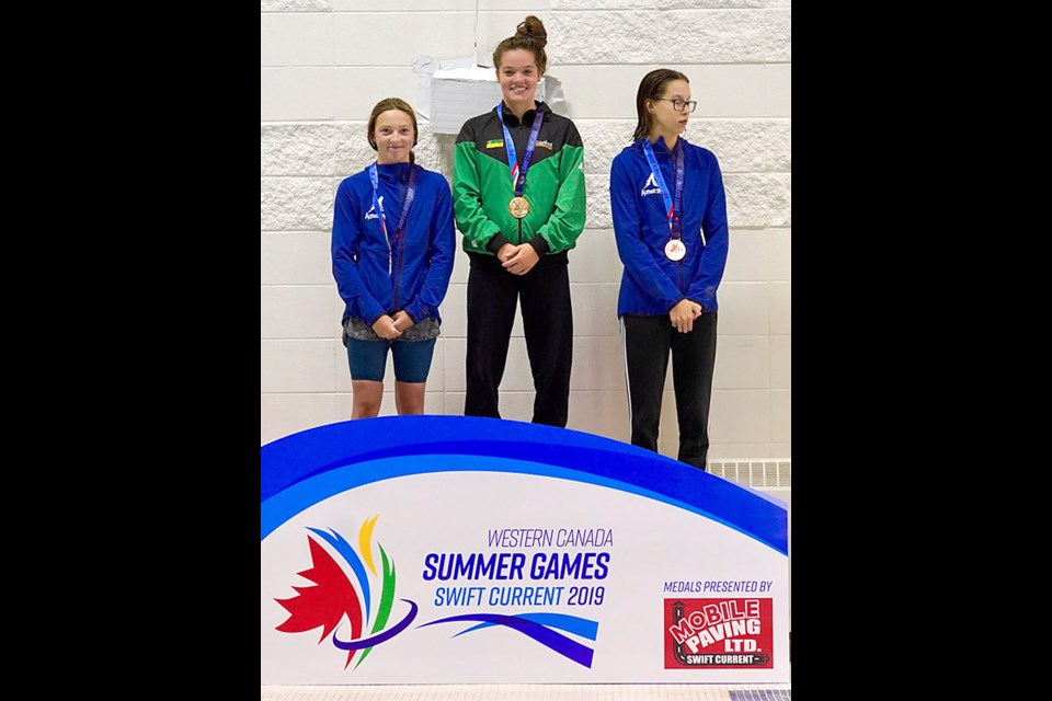 Another day, another couple trips to the top of the Western Canada Summer Games podium for Cadence Johns. 2019wcsg.ca photo