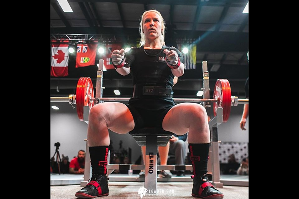 Moose Jaw's Rhaea Stinn continues to set world records on the international powerlifting scene – including the world bench press championship in May. Instagram photo.