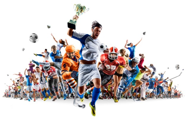 sports collage stock
