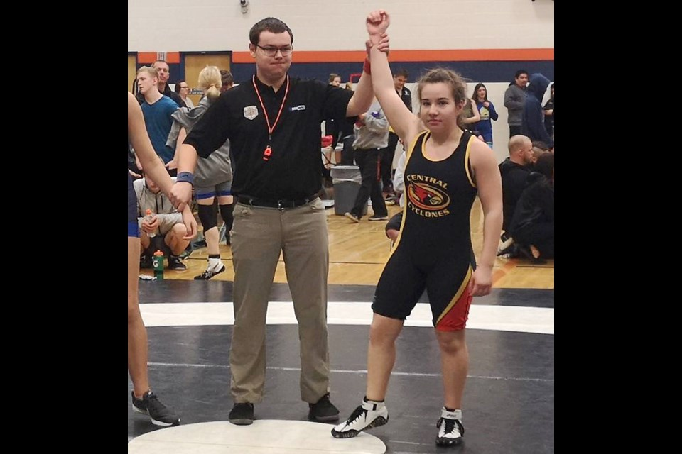 Moose Jaw Kinsmen Wrestling Club competitor Alexis Bradish has been in this position many, many times this season and will now be representing Saskatchewan at the Western Canada Games.