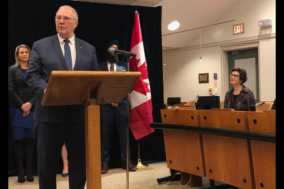 Federal Border Security and Organized Crime Reduction Minister Bill Blair today announces $11.3 million in funding to combat gun and gang violence. Supplied photo/Government of Canada