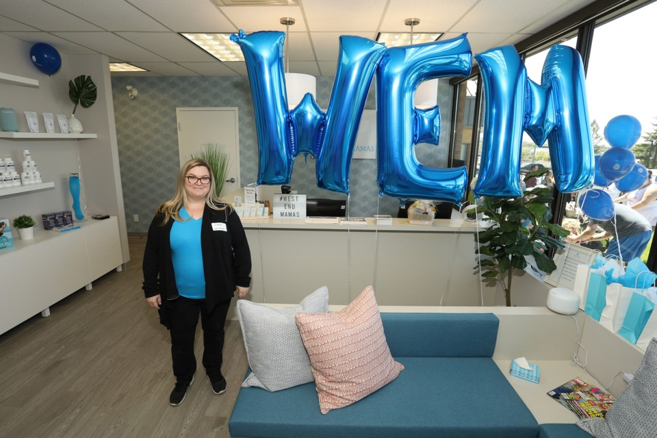 Dr. Sarah Mickeler, founder of West End Mamas, at the June 2 grand opening of the Newmarket wellness clinic for mothers.  Greg King for NewmarketToday