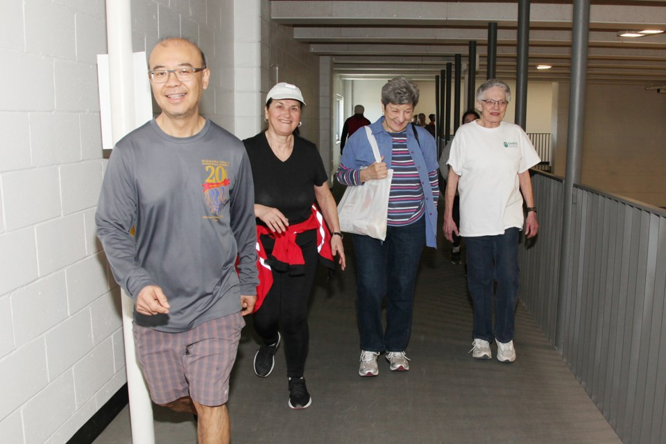 Smiling walkers know they are supporting CHATS' quality in-home and community services to more than 8,300 older adults and family caregivers in York Region and South Simcoe.  Greg King for NewmarketToday