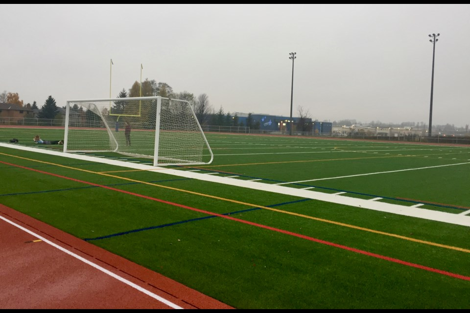 The artificial turf sports field at Dr. J.M. Denison Secondary School officially opened Nov. 5. Debora Kelly/NewmarketToday