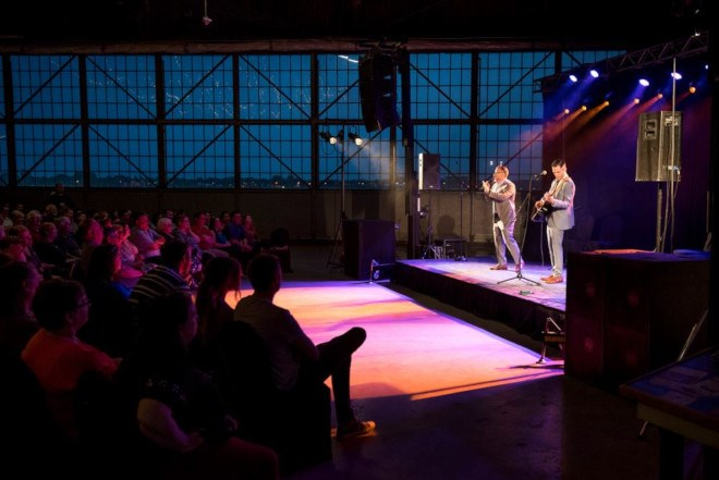 The WTF Festival used the Canadian Heritage Bushplane Centre to stage its acts. (WTF Festival photo)