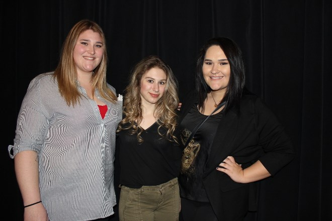 Cambrian students Brette MacDonald, McKenna Urso, and Ashley Taylor enjoyed Mining Day.