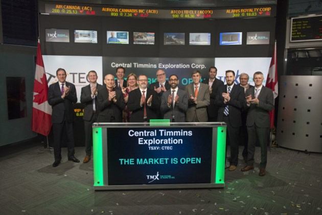 Central Timmins TSX opening