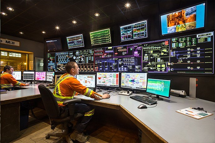 An image of the control room at Clarabelle Mine. The crushing plant at the mine is being closed, citing less ore due to the closure of Stobie Mine earlier in the spring. Vale confirmed this will affect 13 jobs, but could not confirm if this meant layoffs or employees transferred to other departments.