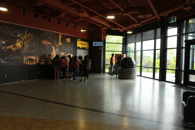 The lobby of Dynamic Earth is often used to host special events and is designed to be closed off on its own, or be used with other spaces like the Epiroc Theatre, Copper Cafe and Discovery Room.