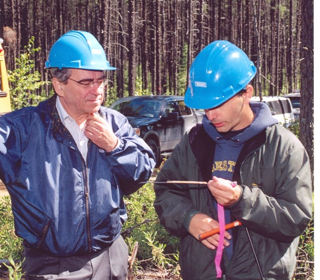 The Canadian Ecology Centre is honouring Frank Dottori (left) for his long-time advocacy of sustainable forestry practices. (File photo)