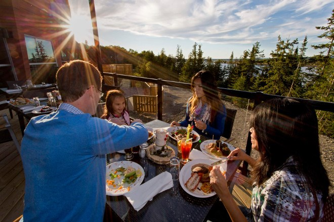 Tourists enjoying dinner at the Manitoulin Hotel and Conference Centre in Little Current (Supplied)