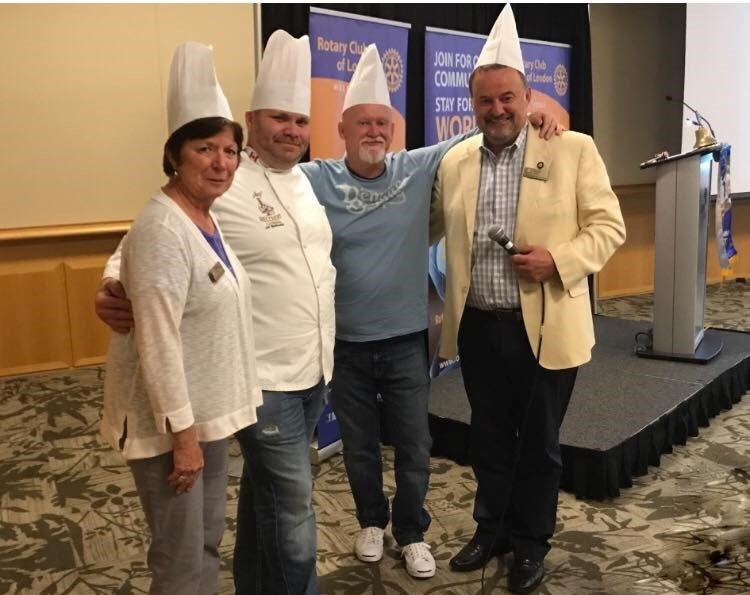 Jay Barnard, second from left, started Freshwater Cuisine in Kenora to help showcase local freshwater fish in new and interesting ways by launching products featuring items like Northern pike fish cakes and pickerel cheeks.