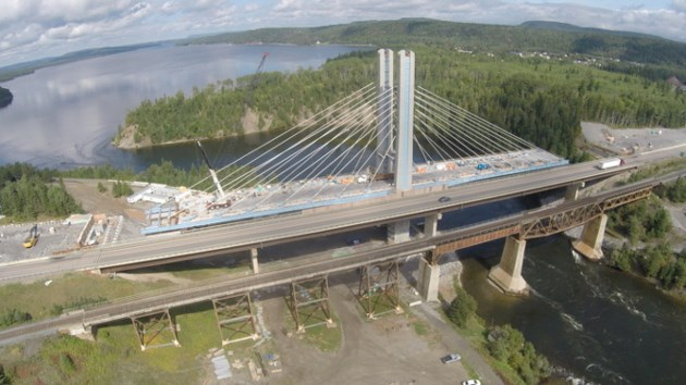 Nipigon Bridge during construction