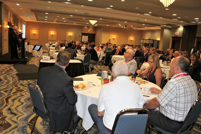 Around 200 people and delegates were at the Holiday Inn in Sudbury to discuss mining opportunities around the world at the Third Annual Northern Ontario Exports Forum at the Holiday Inn, June 27.