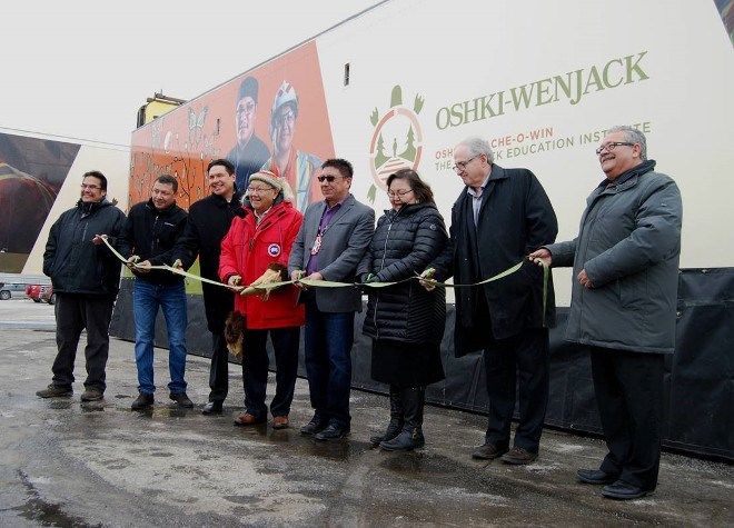 Oshki-Pimache-O-Win Wenjack Education Institute in Thunder Bay took possession of a new mobile trades trailer in January.